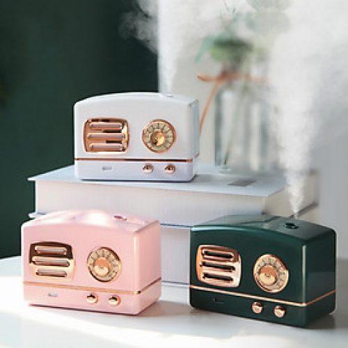 Máy Phun Sương Mini Hình Đài Cassette Hơi Nước Tạo Ẩm, Khử Mùi Trong Phòng Có Đèn Led Ngủ (Tặng Kèm Dây Sạc) – MP146